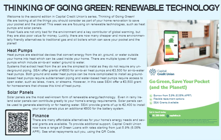 Thinking of Going Green? Think Renewable Technologies!