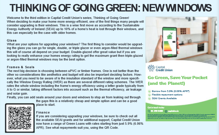Thinking of Going Green? Think of New Windows!
