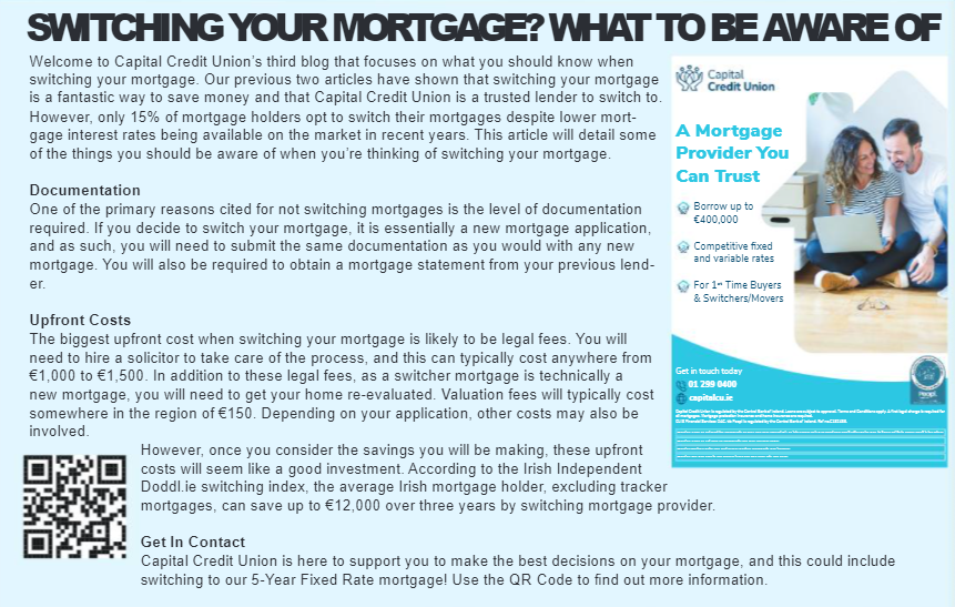 Switching Your Mortgage? What To Be Aware of